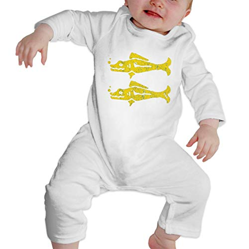 Barracuda Long Sleeve - SININIDR Newborn Jumpsuit Infant Baby Girls Blue Barracudas Long-Sleeve Bodysuit Playsuit Outfits Clothes White