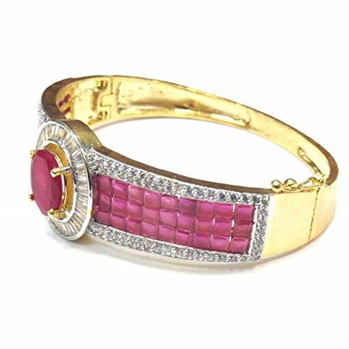 Jewelshingar Jewellery Diamond Looking Free Size Bracelet For Girls ( 14751-bcad-ruby ) by Jewelshingar