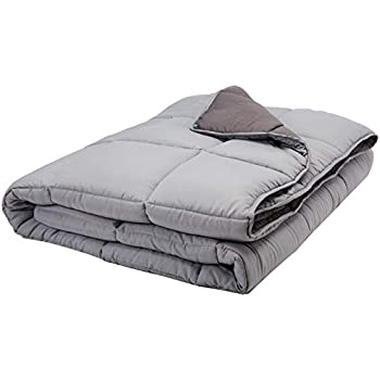 Linenspa All-Season Reversible Down Alternative Quilted Comforter - Hypoallergenic - Plush Microfiber Fill - Machine Washable - Duvet Insert or Stand-Alone Comforter - Stone/Charcoal - Oversized King