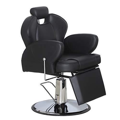 BarberPub Threading Hydraulic Recline Barber Chair Salon Beauty Spa Equipment 2692 Black