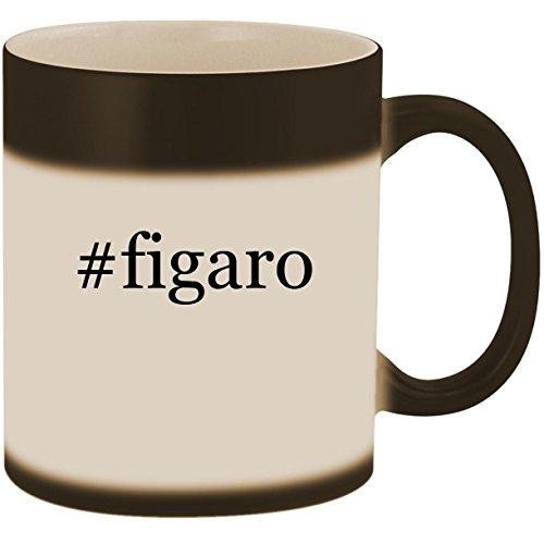 #figaro - 11oz Ceramic Color Changing Heat Sensitive Coffee Mug Cup, Matte Black Disney Couture Chain Necklace