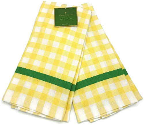 Kate Spade New York Color Pop Gingham Yellow 2 Pack Kitchen Towels]()