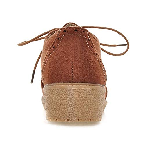Chaussures Brogues Marron Lacets TAOFFEN Femmes à nY0w746qax