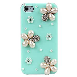 ZL Three Flower Decorated Back Case for iPhone 4/4S