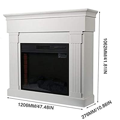 Homgrace Wood Electric Fireplace with Remote Control, 1350W