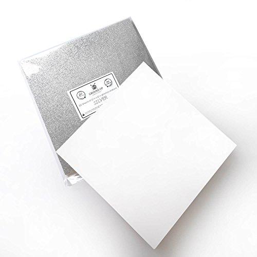 Premium 20 Sheets Glitter Cardstock 12