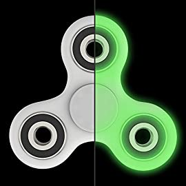 The Anti-Anxiety 360 Spinner Helps Focusing Fidget Toy [3D Figit] Tri-Spinner EDC Focus Toy for Kids & Adults - Best Stress Reducer Relieves ADHD Anxiety Boredom Metal Bearing (Glow in the Dark)
