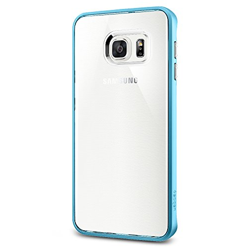 Spigen Neo Hybrid Crystal Galaxy S6 Edge Plus Case with Flexible Inner Casing and Reinforced Hard Bumper Frame for Galaxy S6 Edge Plus 2015 - Blue Topaz