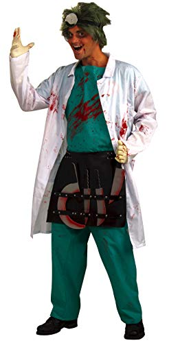 Surgical Gown Costume (Forum Novelties Men's Demented Surgeon Costume, Multi, One)