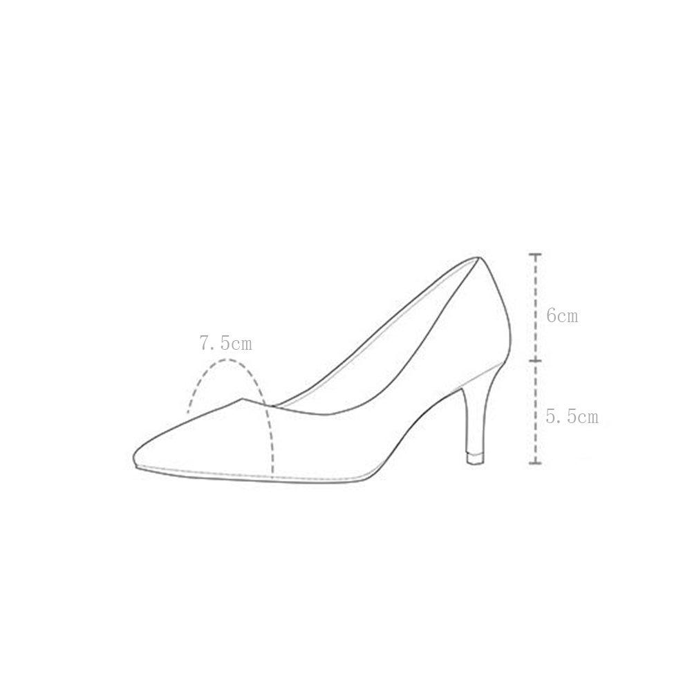 WYYY Damenschuhe High Heels Rauh Rauh Rauh mit Flacher Mund Spitze Freizeitschuhe 5,5 cm (Farbe   Rosa Größe   EU37 UK4.5-5) 390176