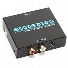 EnjoyGadgets® Premium Digital (Coax & Optical Toslink S/PDIF) to Analog (L/R RCA) Audio Converter DAC DAAC, with 3.5mm Jack (EGDACP)