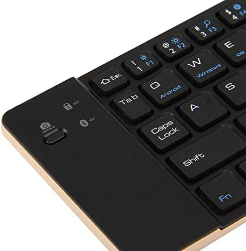 Color : Gold Gold Support Android//Windows//iOS The Lastest Model LYX F66 Foldable Bluetooth Wireless 66 Keys Keyboard