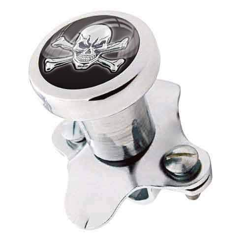 TrickToppers Billet Aluminum Polished Steering Wheel Spinner Suicide Brody Knob for Hot Rod Customs Car Truck SUV Tractor Trailer Big Rig Boat and More - Vintage Skeleton Skull and Bones