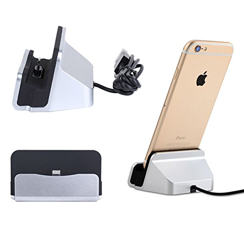 Dock Station Cradle - okaccessories iPhone Charger Dock,Desktop Charger Station,Charging Stand Cradle Lightning Magneti Dock Base Fast Charging for iPhone X 8 7 7 Plus 6 6S Series