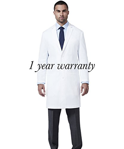Men's E. Wilson Slim Fit M3 White Lab Coat- Professional Fit With Performance Fabric - Size 36 by Medelita (Image #4)'