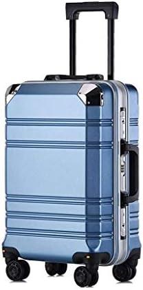 BXDYA スピナーホイール20インチ男性と女性の負担軽減シャーシハンド荷物のスーツケースで拡張可能な鞄 (Color : D)