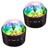 [2-Pack] Wireless Disco Ball Lights Battery
