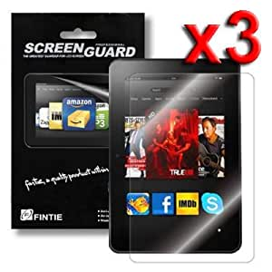 """Fintie Kindle Fire HD 8.9"""" Ultra Clear Screen Protector 3 Pack Individual Retail Package (2012 Release / Not Compatible with Kindle Fire HDX 8.9"""")"""