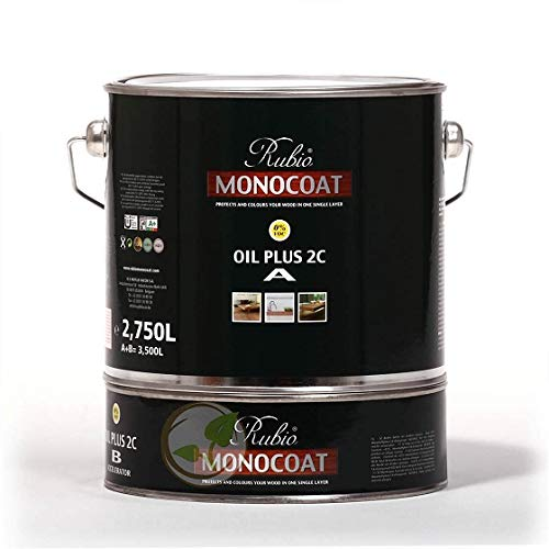 3 L Reichweite circa 65 M/²//Gebinde Holzboden Selber /Ölen 1 Rubio Monocoat Oil Plus 2C Farbe Chocolate