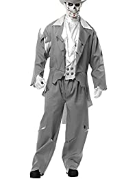 Adult Men's Grey Zombie Prom Ghost Groom Costume