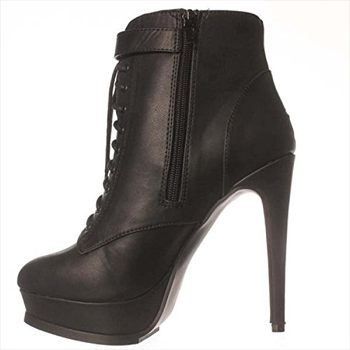Just Fab Womens Bevin Closed Toe Ankle Fashion Boots Black pNE16