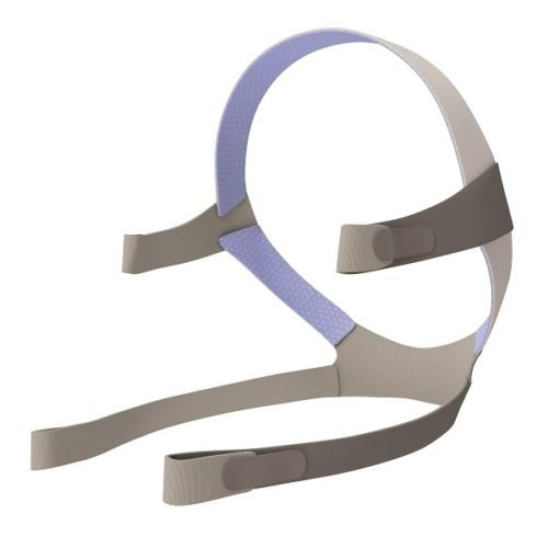 - Replacement Headgear for AirFit F10 Full Face - Gray/Blue Standard/Medium