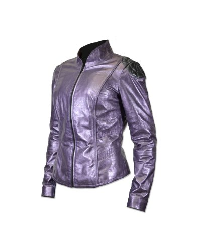 Kick Ass 2 Hit Girl Prop Replica Leather Jacket (Medium) Purple -