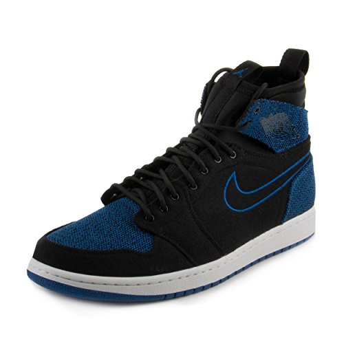 Jordan Nike Men's Air 1 Retro Ultra High Black/Sport Royal Black White Basketball Shoe 10 Men - Jordans Mens New