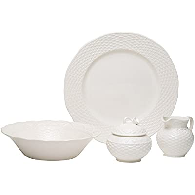 Click for Red Vanilla FC900-005 Nantucket 5-Piece Serveware Set, White
