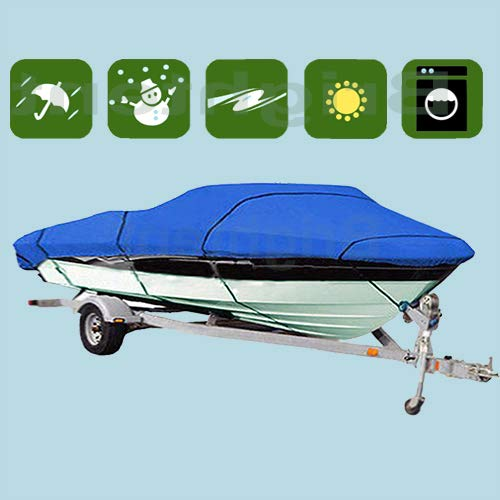 RockyMRanger Universal 2019 New 240 D Waterproof Bass Jet Fishing Trailer Boat Cover (BT3M)