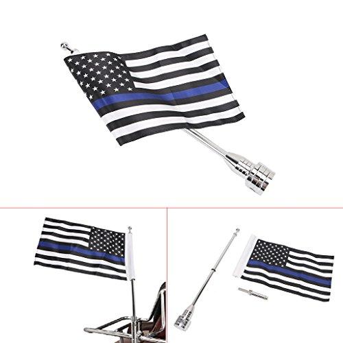 제이드 오토바이 미국 국기 장대 6 x 9 씬 블루 라인 미국 국기/Ja..