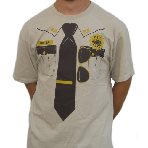 [Jeff Foster State Highway Patrol T-Shirt Costume-Mens 3XL] (Highway Patrol Costume)