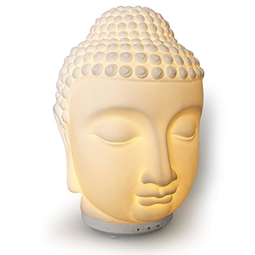 (Buddha Essential Oil Diffuser/Ultrasonic Zen Cool Mister for Aromatherapy. Warm Glow Light and Electric Safety Auto Shut-off (Min 8hrs))
