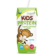 Orgain Healthy Kids Organic Nutritional Shake, Vanilla, 8.25 Ounce (Pack of 12)
