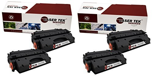 Laser Tek Services® Canon C120 (2617B001AA) 4 Pack Black High Yield Compatible Replacement Toner Cartridges for use in the Canon ImageClass D1120 D1150 D1170 D1180 D1320 D1350 D1370
