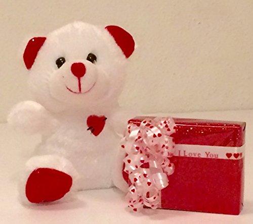 Cupid Bear (I Love You Russell Stover Mini Chocolates and Cupids Arrow Teddy Bear)