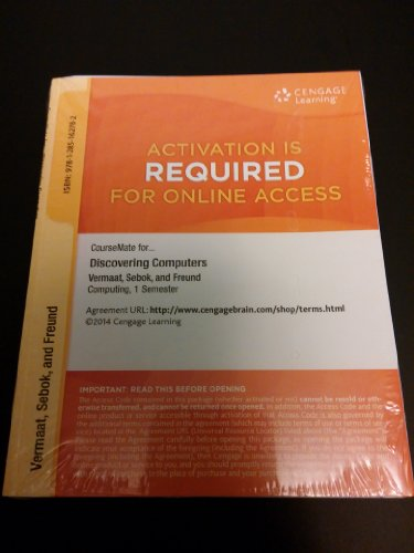 CourseMate for Discovering Computers 1 Semester Online Access