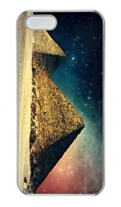 case glitter covers egypt pyramids art PC Transparent Case for iphone 5/5S