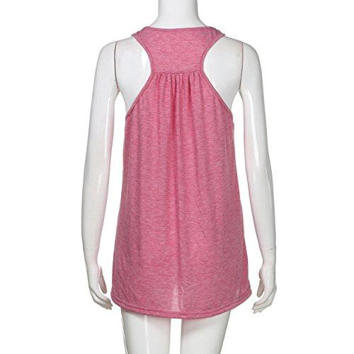 donne ❤️❤️zeze❤️❤️in maniche rosa camicette ragazza Euzeo beach canotte shirt T le Abbigliamento gilet party sexy camicetta T giovane T estate shirt crop sportiva donna woman senza per shirt giubbotto wzwnYq7