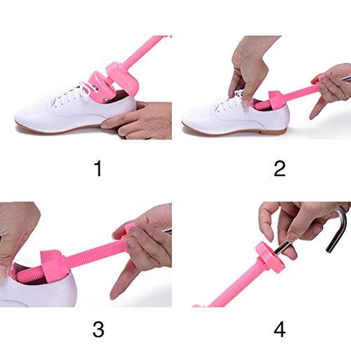universal Hormas Un plástico Amarillo alto Un YI calzado Soporte Zapatos de expansor mujeres ajustable Color para expansible zapatos tacón Pink de de Amplio soporte Pink Rosa para addqUz