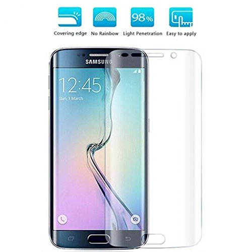 Verizon Samsung Galaxy S6 Edge (SM-G925V) Screen Protector, Full Cover Screen Protector HD Clear LCD Film Curved Display Touch Screen Shield [Edge to Edge] for Samsung Galaxy S6 Edge (SM-G925V) (What's The Best Screen Protector For Galaxy S6 Edge)