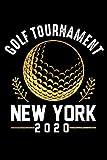 Golf tournament, New York 2020 Notebook, Golf Player notebook gift: Golf /  Golfer log Gift, 101 Pages, 6x9, Soft Cover, Matte Finish