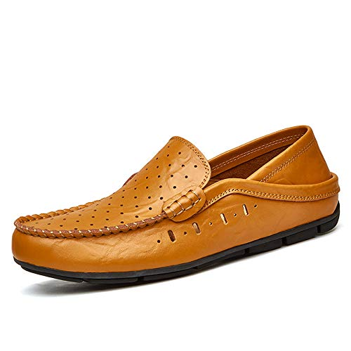 in Semplice PU da da da Scarpe Scarpe Design Uomo con Cricket Hollow Brown e Fodera Mocassini YfzCwxqR