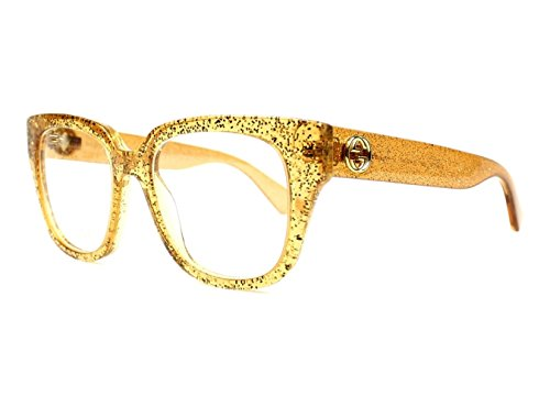 Optical frame Gucci Optyl Glitter Gold - Transparent Gold (GG0037O 006) -  889652050720