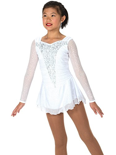 Jerry's Figure Skating Dress 30 (8-10, White) (Skating White)