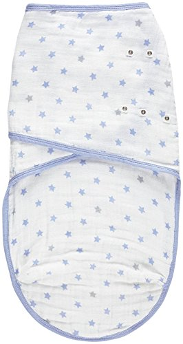 - aden by aden + Anais Easy Swaddle Wearable Baby Wrap, 100% Cotton Muslin, Dashing - Large