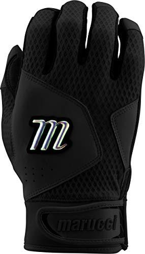 Marucci Sports Equipment Sports, MBGQST2Y-BK/BK-YM, Youth Quest 2.0 Batting Gloves