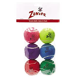 Zanies Tennis Ball Teasers Assorted 6 Pack