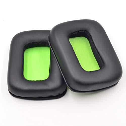 YiFeiCT Almohadillas de cuero de primera calidad, almohadillas de repuesto para orejeras suaves compatibles con auriculares estereo Mad Catz Tritton Kunai