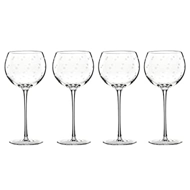 kate spade new york Larabee Dot Balloons Wine Glasses, Set of 4